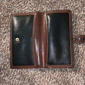 Vintage coach black and brown wallet